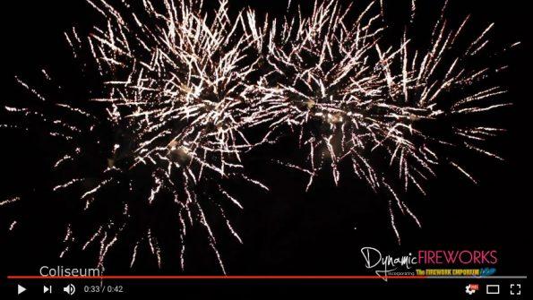 Coliseum Firework by Dynamic Fireworks London