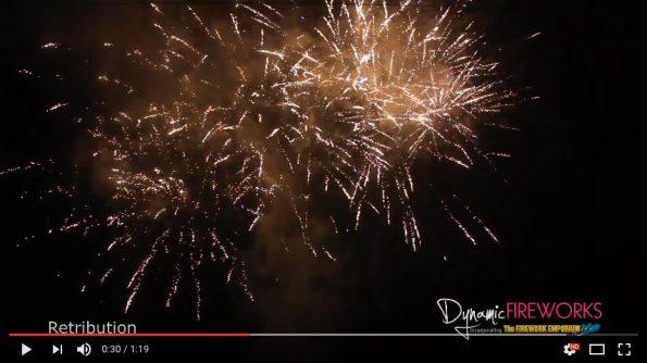 Retribution Compound Firework at Dynamic Fireworks London
