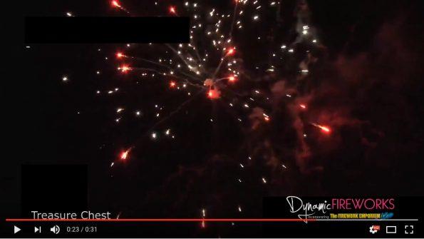 Magnum Series Treasure Chest Firework at Dynamic Fireworks London